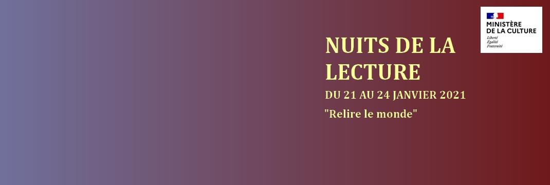 Nuits de la Lecture 2021 |